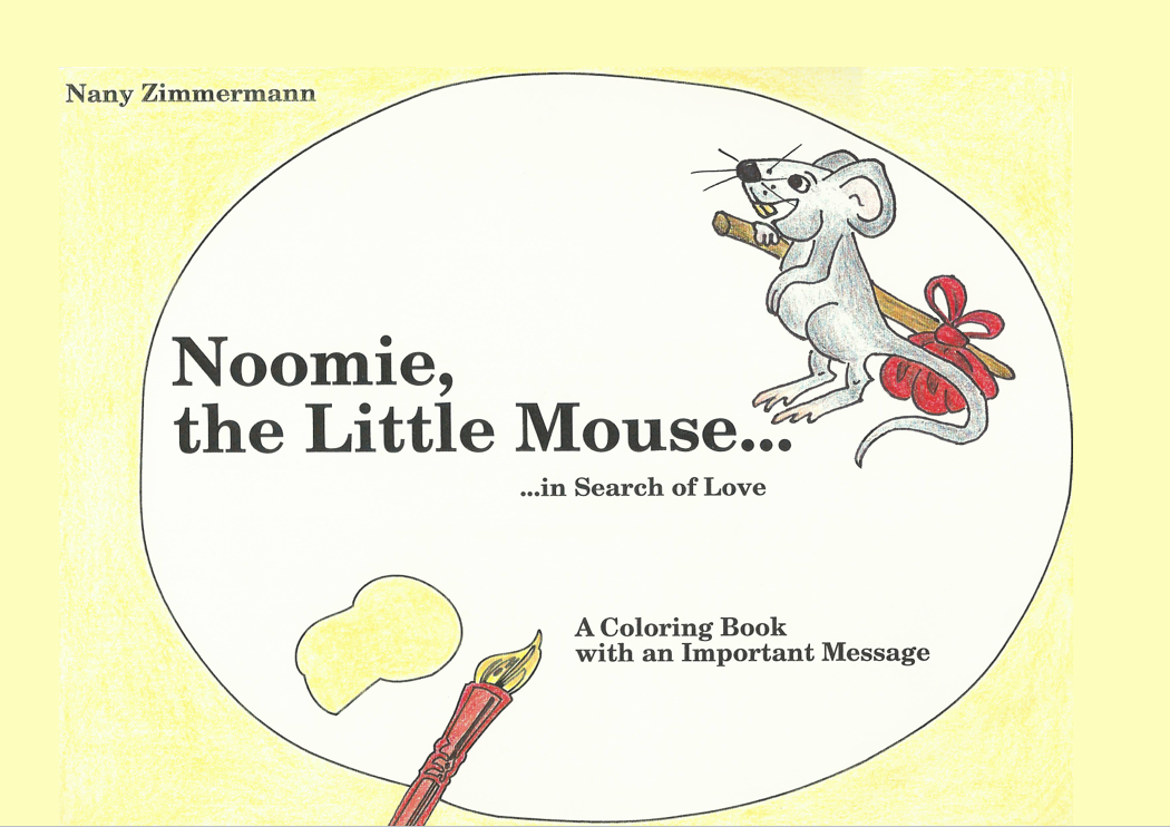 noomie-the-little-mouse coloring ebook by nany zimmermann